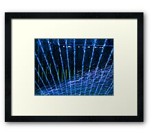 Blue Sprinkles Framed Print