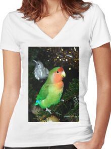 Christmas Pickle Women's Fitted V-Neck T-Shirt
