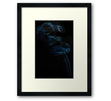 Charging Smoke Framed Print