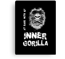 At Ease With My Inner Gorilla Canvas Print