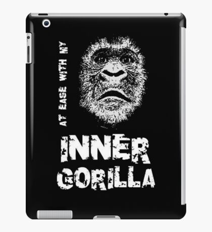 At Ease With My Inner Gorilla iPad Case/Skin