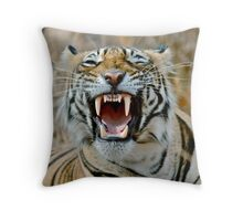 The Snarl- Tiger Ranthambore National Park India Throw Pillow