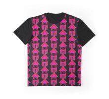 SQUIDOO pink stencil Graphic T-Shirt