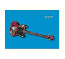 Epiphone SG with Emily Strange Graphics Art Print