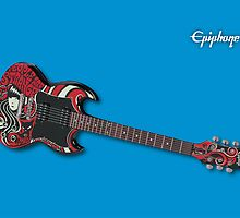 Epiphone SG with Emily Strange Graphics by Michael Cuneo