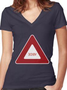 Abide - invert Women's Fitted V-Neck T-Shirt