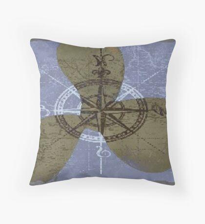 Vague voyage Throw Pillow