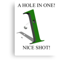 A Hole In 1 Canvas Print