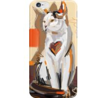 Cat big heart iPhone Case/Skin