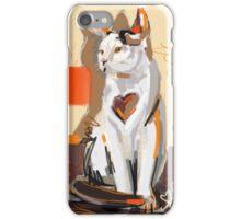 Cat big heart iPhone Case/Skin