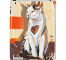 Cat big heart iPad Case/Skin