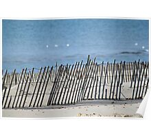 Sand fence Poster