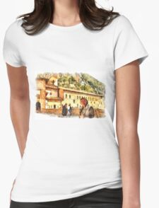 Sacro Speco San Benedetto: selfie Womens Fitted T-Shirt