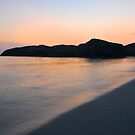 Sandvesanden beach at night by Algot Kristoffer Peterson