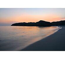 Sandvesanden beach at night Photographic Print