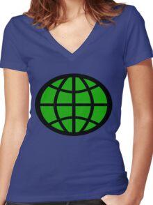 Captain Planet Planeteer Women's Fitted V-Neck T-Shirt