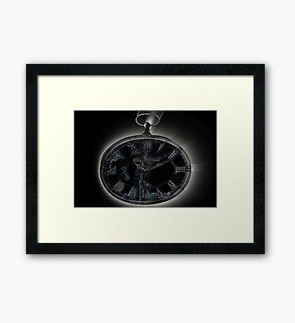 Marked hands of time Framed Print