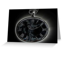 Marked hands of time Greeting Card