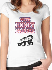 Vote Honey Badger Women's Fitted Scoop T-Shirt