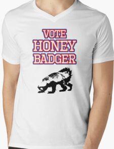 Vote Honey Badger Mens V-Neck T-Shirt