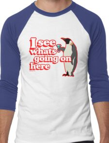 Drunken Penguin Jealousy Men's Baseball ¾ T-Shirt