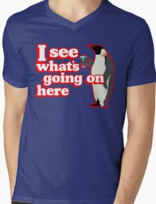 Drunken Penguin Jealousy Mens V-Neck T-Shirt
