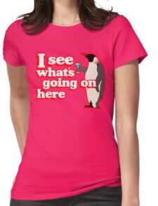 Drunken Penguin Jealousy Womens Fitted T-Shirt