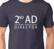 SECOND ASSISTANT DIRECTOR - White Unisex T-Shirt