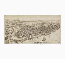 Panoramic Maps Newburgh NY One Piece - Long Sleeve