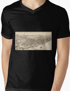 Panoramic Maps Newburgh NY Mens V-Neck T-Shirt