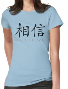 Chinese Symbol for Believe T-Shirt Womens Fitted T-Shirt