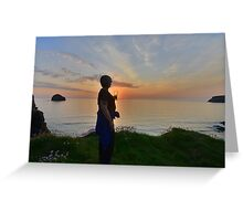 Cornwall: Sunset in a Glass Greeting Card
