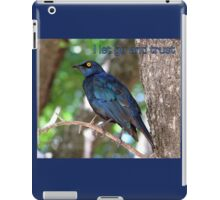 I let go and trust. iPad Case/Skin