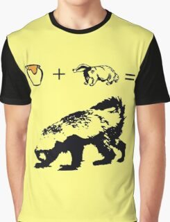 Honey + Badger = Honey Badger Graphic T-Shirt