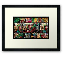 2012 Studio Play - Hand Painted Book Covers Framed Print