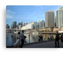 People on the Waterfront Canvas Print