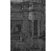 Creepy Beach House - (Desaturated HDR, and Fractalius) Photographic Print