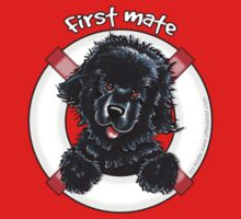 Black Newfie First Mate Kids Tee
