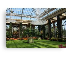Inside the Longwood Conservatory Canvas Print