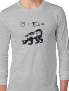 Honey + Badger = Honey Badger Long Sleeve T-Shirt