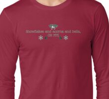 Snowflakes and acorns and bells, OH MY! (green) Long Sleeve T-Shirt