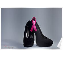 "Breast cancer awareness ""Black heels and Ribbon"" Poster"