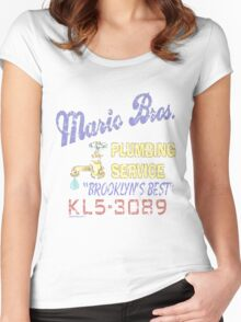 Mario Brothers Plumbing Women's Fitted Scoop T-Shirt