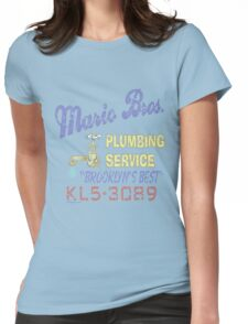 Mario Brothers Plumbing Womens Fitted T-Shirt