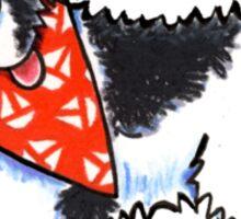 Landseer Newfie Sailboat Hanky Sticker