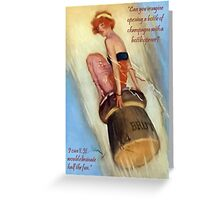 Opening Champagne Greeting Card