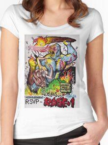 "Ken Karnage's ""Rage+1"" Women's Fitted Scoop T-Shirt"