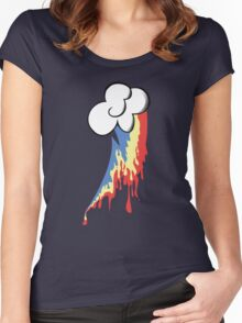 Running Rainbow Women's Fitted Scoop T-Shirt