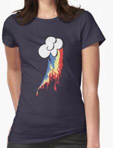 Running Rainbow Womens Fitted T-Shirt