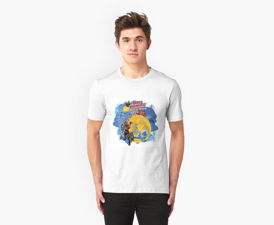 Teddy Roosevelt - Space Assassin! t-shirt by badassdigest